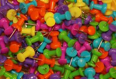 Colorful pusphin texture. A lot of colorful pusphins Royalty Free Stock Photo