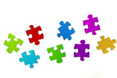 Colorful Puzzle Stock Images