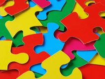 Colorful puzzle Royalty Free Stock Photo