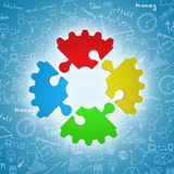 Colorful puzzle Stock Photography