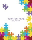 Colorful puzzle background Stock Photo