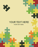 Colorful puzzle background vector Royalty Free Stock Photo