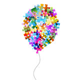 Colorful puzzle balloon Stock Photography