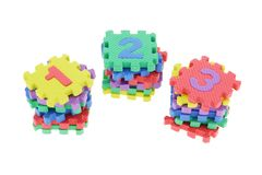 Colorful puzzle blocks Stock Images
