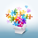 Colorful puzzle box vector illustration