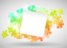 Colorful Puzzle Design Royalty Free Stock Image