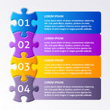 Colorful puzzle design template Stock Photo