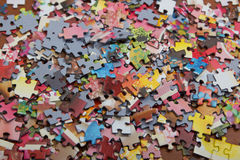 Colorful  puzzle on the desk Stock Photo