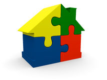 Colorful puzzle house Royalty Free Stock Images