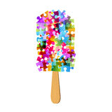 Colorful puzzle ice-cream Royalty Free Stock Photography