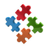 Colorful puzzle icon Stock Photography