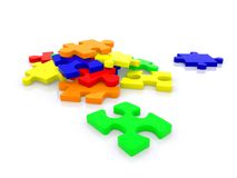 Colorful puzzle isolated Royalty Free Stock Photos