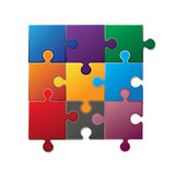 Colorful puzzle Royalty Free Stock Images