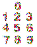 Colorful puzzle numbers. Use colorful puzzle shape to create a numbers Royalty Free Stock Photography