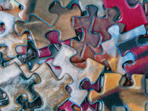 Colorful puzzle pieces Stock Photography