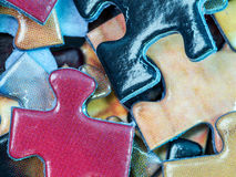 Colorful puzzle pieces Stock Image