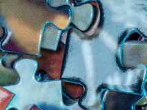 Colorful puzzle pieces Stock Photos