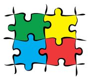 Colorful Puzzle Pieces royalty free stock image