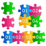 Colorful puzzle pieces Royalty Free Stock Images