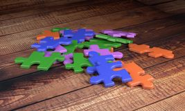 Colorful puzzle pieces Royalty Free Stock Photos