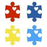 Autism Awareness Puzzle Pieces vector illustration