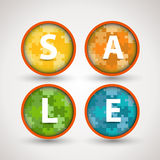 Colorful puzzle sale rings Stock Photography