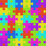 Colorful puzzle seamless background pattern Royalty Free Stock Photo