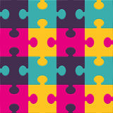Colorful puzzle seamless background pattern Royalty Free Stock Photography