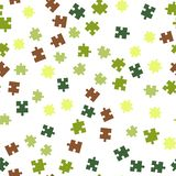 Colorful puzzle seamless background pattern. Vector illustration isolated on white background royalty free stock images