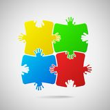 Colorful puzzle. Stock Photography