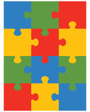 Colorful puzzle 12 Stock Photos