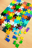 Colorful puzzles. Puzzle with a pattern of colorful puzzle pieces Stock Images