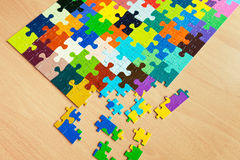 Colorful puzzles. Puzzle with a pattern of colorful puzzle pieces Royalty Free Stock Images