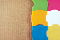 Colorful puzzles. Royalty Free Stock Images