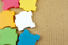 Colorful puzzles. Stock Images