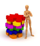 Colorful puzzles royalty free stock photo