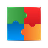 Colorful puzzles Royalty Free Stock Photography
