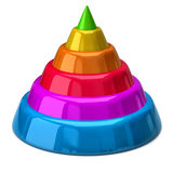 Colorful Pyramid Stock Photography