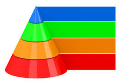 The colorful pyramid Royalty Free Stock Photography