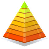 Colorful pyramid design element Stock Photo