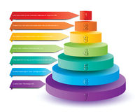 Colorful pyramid elements for presentation Royalty Free Stock Photos