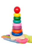 Colorful pyramid toy Stock Images