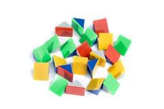 Colorful pyramid on white background stock photos