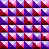 Colorful pyramids seamless pattern Royalty Free Stock Images