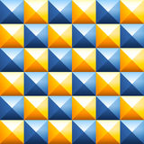 Colorful pyramids seamless vector pattern. Abstract background of colorful plastic pyramids. Studded cubes seamless pattern. Pointed background. Pyramidal Royalty Free Stock Image