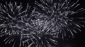 Colorful pyrotechnic show stock video