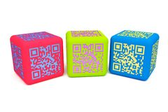 Colorful QR cubes 2 Stock Image