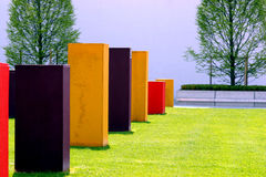 Colorful quadrats. Colorful quadrated figures in munich,germany Stock Images