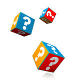 Colorful Question Cubes Royalty Free Stock Image