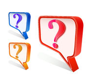 Colorful question mark on chat sign Royalty Free Stock Images